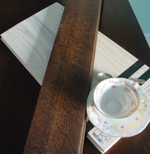 Deska dębowa, wedzona, lakierowana, klasa I